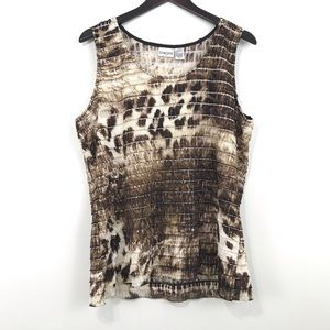 Chicos Neutral Flutter Teired Tank Top 3 (XL)